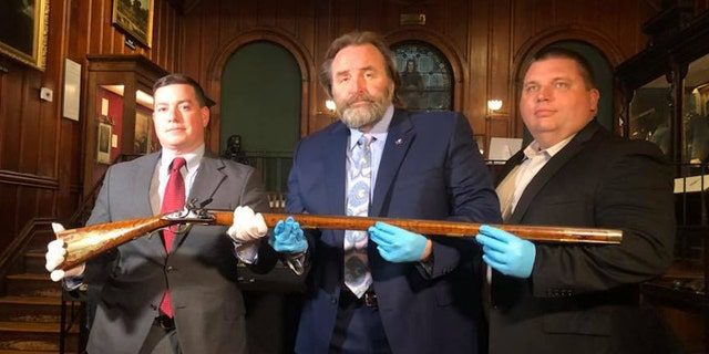 The FBI and Louisiana State Police have returned the historic rifle to the Confederate Memorial Hall Museum in New Orleans (Louisiana State Police)