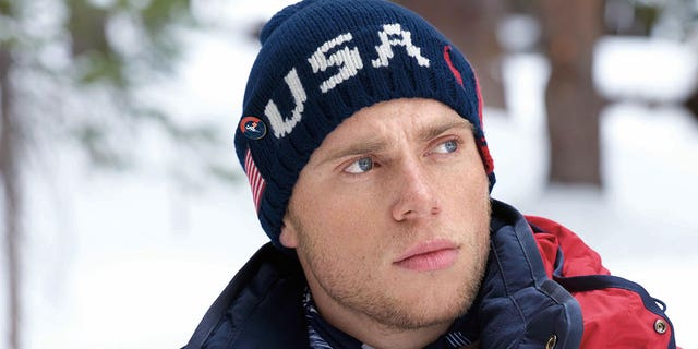 """Athletes such as skiier Gus Kenworthy, seen above, need merely to push a button on an accompanying electronic device to experience either high or low heating, which Ralph Lauren describes as """"immediate."""""""