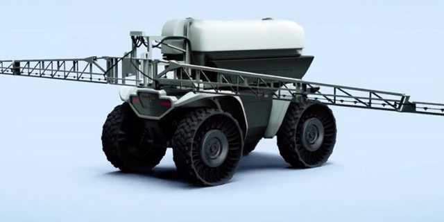 It can even accommodate elaborate mechanisms like a fertilizer spreader.