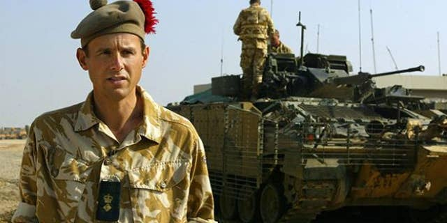 Major General James Cowan, seen here in Iraq, sent out a three-page rant criticizing the table manners of troops at Bulford Camp in Wiltshire, England, which was published in the Sun on Wednesday.