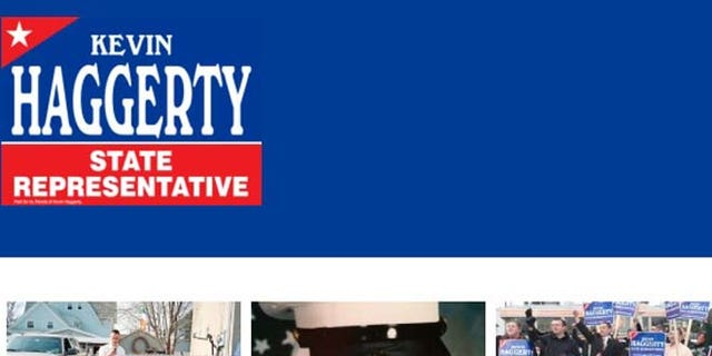 Haggerty features himself in his Marine uniform on his official campaign website.