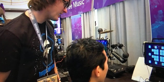 The Hands-Free Music project allows people with disabilities to make music and express themselves using technologies controlled by eye movements.