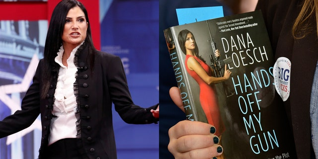"""NRA spokeswoman, Dana Loesch, and her book """"Hands Off My Gun."""""""