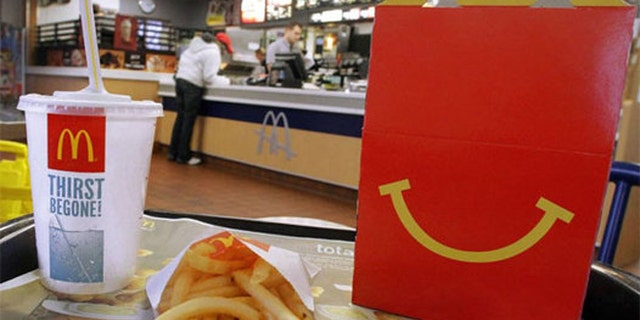 FILE: McDonald's says it will offer self-published books, instead of toys, in its Happy Meal box --for a limited time.
