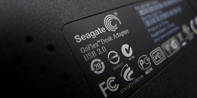 File photo: A Seagate Tech external computer hard drive is shown in this photo illustration in Encinitas, California, U.S., January 23, 2017. (REUTERS/Mike Blake)