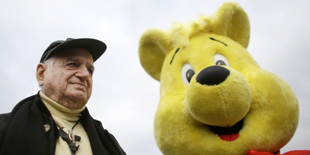 The Oct. 22, 2009 photo shows Hans Riegel, the longtime boss of German candy maker Haribo who took the gummi bear to international fame, in Bonn, western Germany.  Haribo said in a statement that Riegel, the son of the companys founder, died of heart failure in Bonn on Tuesday. He was 90.