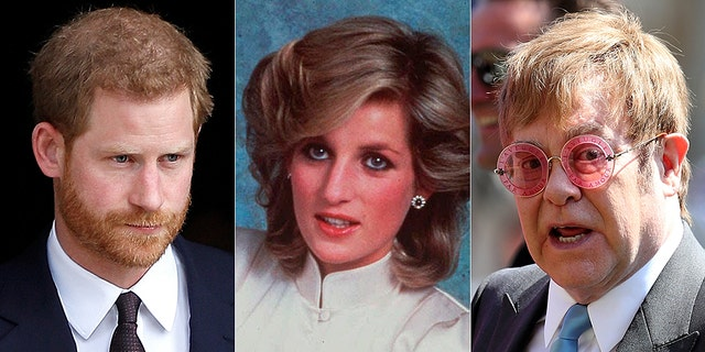 Prince Harry (left) is determined to honor his mother Princess Diana's legacy with the help of Sir Elton John.