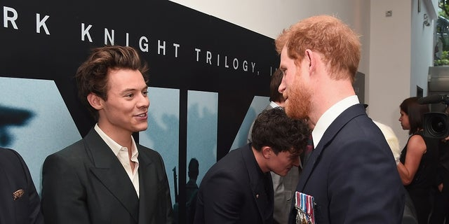 Actor Harry Styles and Prince Harry attend the 'Dunkirk' World Premiere at Odeon Leicester Square on July 13, 2017 in London, Britain. REUTERS/Eamonn M. McCormack/Pool - RTX3BD3I