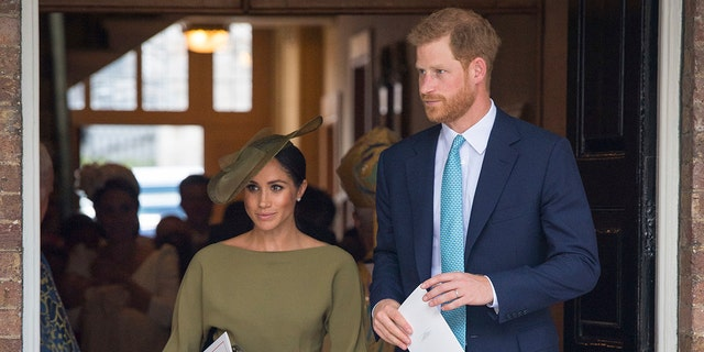 Meghan Markle and Prince Harry attended Prince Louis' royal christening.