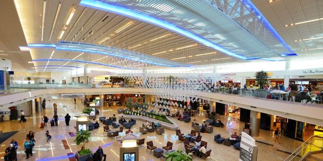 ATLANTA - OCTOBER 4: Atlanta International Airport October 4, 2012 in Atlanta, GA. The international terminal opened in