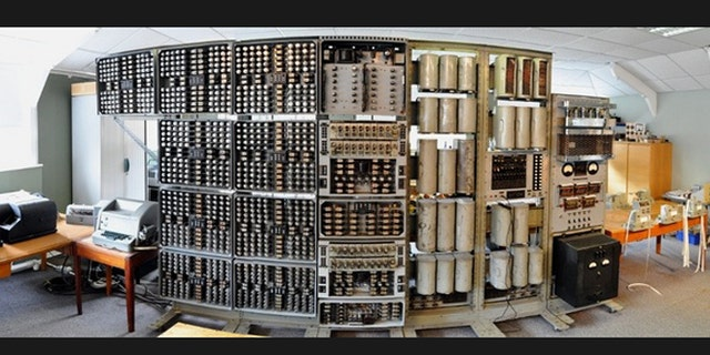 A panorama view of the world's oldest original working digital computer at The National Museum of Computing.