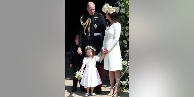 The Duchess of Camrbrige stepped out in a floral-decked hat.