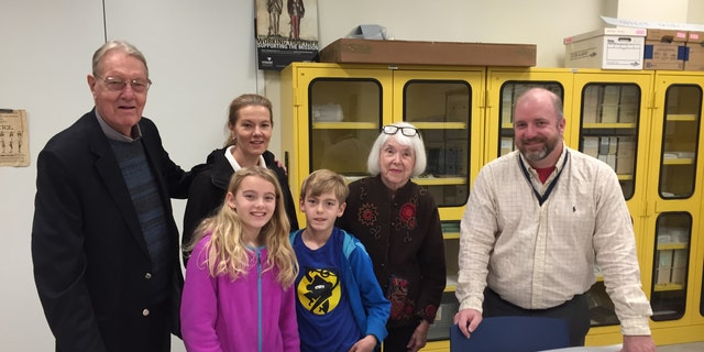 Hawkins' family recently traveled to Philadelphia to donate the journal to the Museum (Museum of the American Revolution)