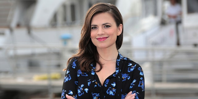 """Actress Hayley Atwell poses during a photocall for the television series """"Conviction"""" during the annual MIPCOM television programme market in Cannes, France, October 17, 2016. REUTERS/Eric Gaillard - LR1ECAH0OT70C"""