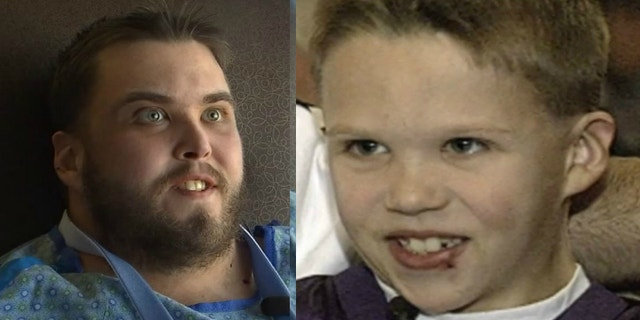 Jaren, pictured right in an interview before his first heart transplant, received the new heart on June 23.