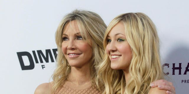 Actress Heather Locklear and her daughter Ava Sambora recorded a brief video amid the ongoing coronavirus pandemic.