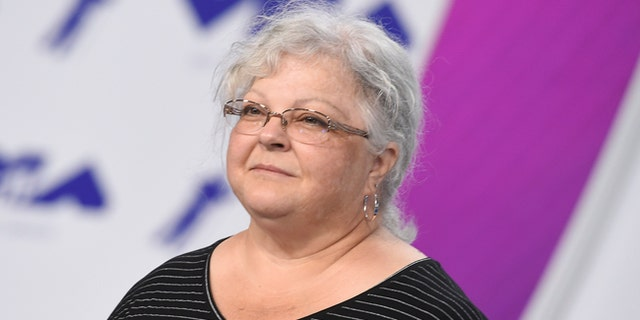 Susan Bro, mother of Heather Heyer, is seen at the MTV Video Music Awards on Aug. 27, 2017. Heyer was killed in Charlottesville, Va., after a car crashed into demonstrators protesting against white supremacy.