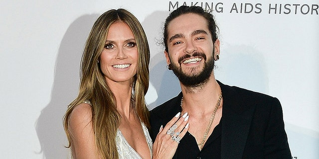 Supermodel Heidi Klum, 45, opens up about dating 28-year-old Tokio Hotel guitarist Tom Kaulitz.