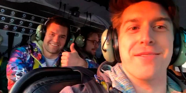 Trevor Cadigan, 26, appears to have posted an Instagram video of the helicopter ride before the crash.