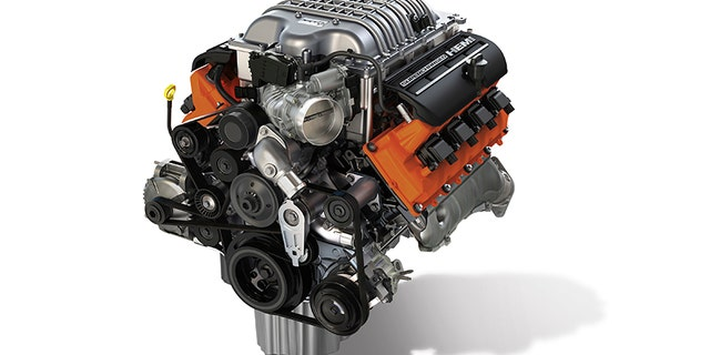 """The new Mopar """"Hellcrate"""" HEMI® Engine kit provides relatively simple """"plug and play"""" with the 6.2L supercharged Crate HEMI® Engine assembly (pictured), which is also available from Mopar."""