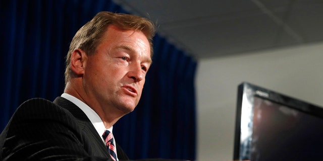 Sen. Heller is the only Republican senator seeking re-election in a state won by Trump's 2016 rival Hillary Clinton.