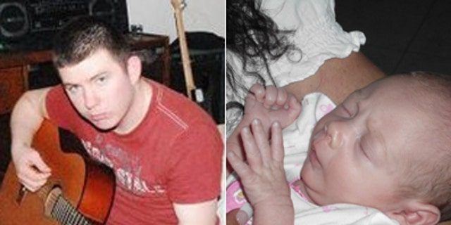 Army Pvt. Derik Hembree, pictured left, is suspected of abducting his 1-month-old daughter.