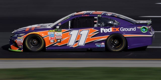 Denny Hamlin was attending a charity event to advocate International Walk to School Day with FedEx, one of his sponsors, told NBC Sports and ESPN that drivers were underpaid.