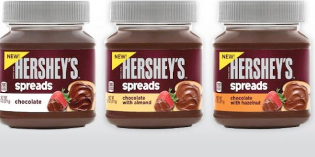 The Hershey Co. is introducing a line of chocolate spreads, including a hazelnut variety reminiscent of Nutella.