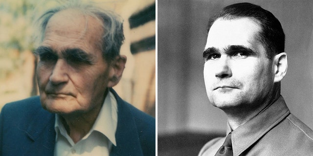 One of the archive of color photos showing Rudolf Hess during his final years at Spandau Prison. (Henry Aldridge & Son)/A file photo of Hess (AP)