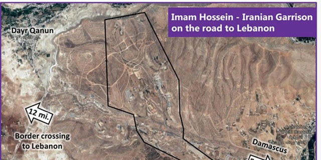 """About Iran's central induction and recruitment center in Syria, Israeli Ambassador Danny Danon claims: """"It is at this base, just over five miles from Damascus, where they are trained to commit acts of terror in Syria and across the region."""" (IDF)"""