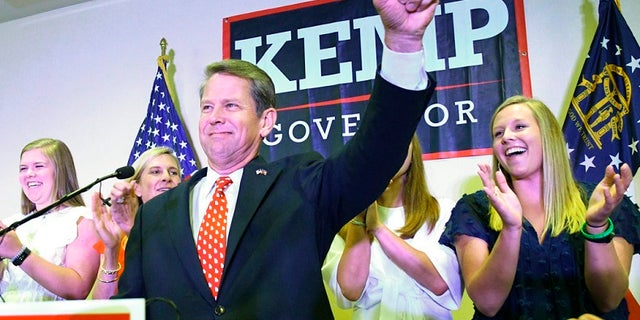 Secretary of State Brian Kemp, who secured Trump's endorsement, won in a primary runoff Tuesday against NRA-backed Lt. Gov Casey Cagle.
