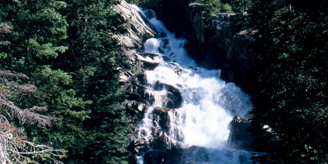 Hidden Falls, at Grand Teton National Park, is seen above. A portion of the park was closed due to large cracks and fissures that appeared.