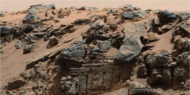 This image by NASA's Mars rover Curiosity shows very fine-grained sediments, which fell down through the water of a lake that existed inside the Red Planet's Gale Crater billions of years ago