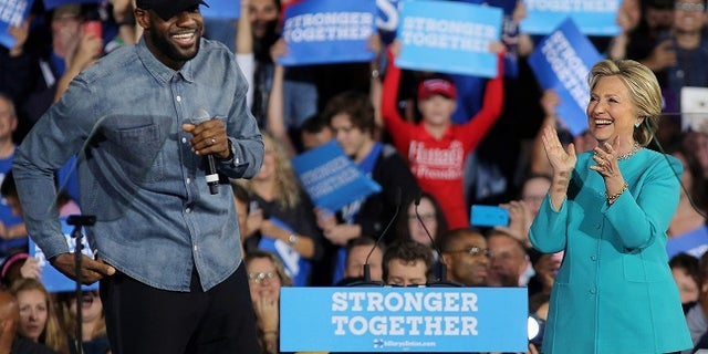 LeBron James endorsed Hillary Clinton in last year's presidential election.