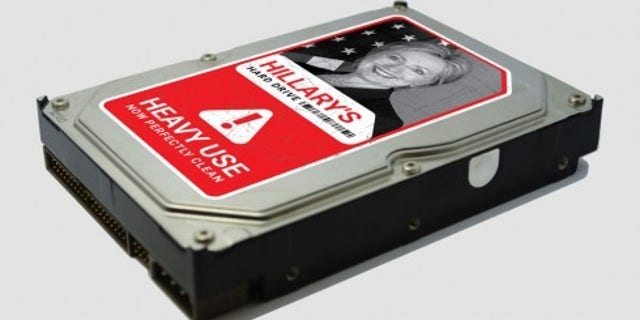 "Hillary Clinton's ""hard drive,"" referring to the email scandal currently plaguing the Democratic frontrunner, is for sale for just under $100."