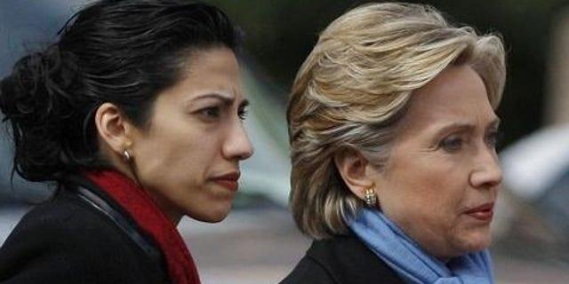 Hillary Clinton and Huma Abedin (Reuters photo)