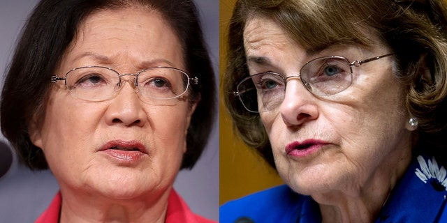 U.S. Sens. Mazie Hirono, D, Hawaii, left, and Dianne Feinstein, D-Calif., have expressed opposition to Brett Kavanaugh's nomination to the U.S. Supreme Court.