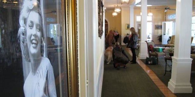 Feb. 25, 2012: A picture of actress Marilyn Monroe, one of the hotel's many famous guests, hangs on a wall in the lobby of the Green Park Inn in Blowing Rock, N.C.