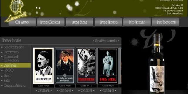 Italian wine maker Vina Lunardelli sells wines featuring images of Adolf Hitler and Nazi slogans.