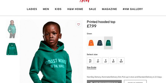 """Dolezal said she created the """"protest hoodie"""" in response to a controversial H&M ad featuring a black child in a sweatshirt reading """"Coolest Monkey in the Jungle."""""""