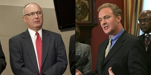 Shown here are Republican Rep. Pete Hoekstra, left, and Democratic Rep. Chris Van Hollen. (AP Photos)