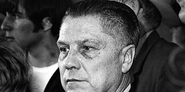 U.S. labor leader Jimmy Hoffa is photographed at the Greater Pittsburgh Airport, Pennsylvania, April 12, 1971. (Reuters)