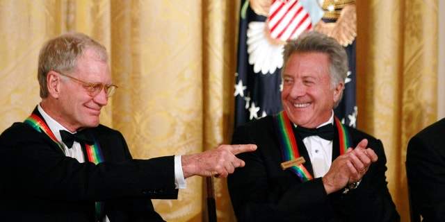 David Letterman and Dustin Hoffman at the Kennedy Center awards.