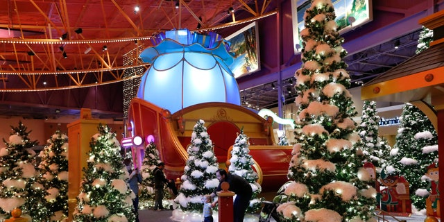 Santa's Flight Academy in Great Lakes Crossing Outlets in Auburn Hills, Michigan is seen on Nov. 21, 2016