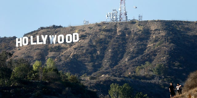 A view of the Hollywood sign from Bronson Canyon park in Hollywood, California February 21, 2014.