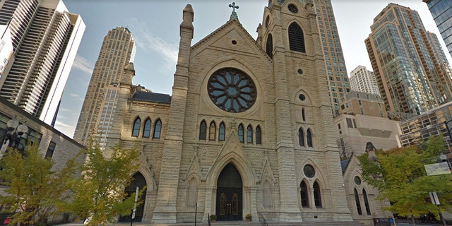 The Holy Name Cathedral in Chicago.