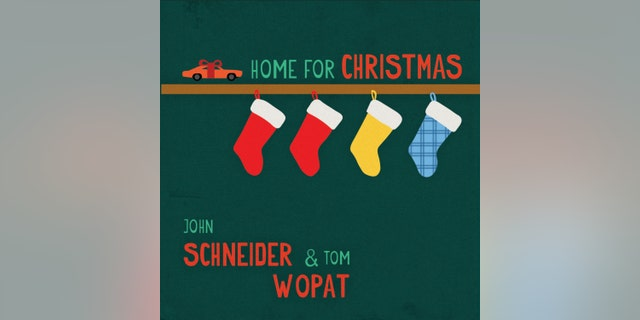 """This CD cover image shows """"Home for Christmas,""""; a holiday album by John Schneider and Tom Wopat."""
