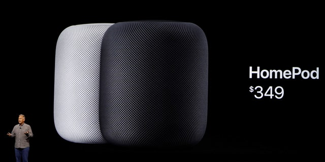 Phil Schiller, senior vice president of worldwide marketing announces the new Apple HomePod during the annual Worldwide Developer Conference (WWDC) in San Jose, California, U.S. June 5, 2017. (REUTERS/Stephen Lam)