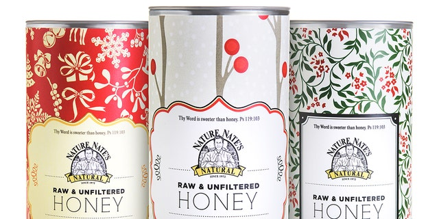 16 oz. Raw and Unfiltered Honey gift tines