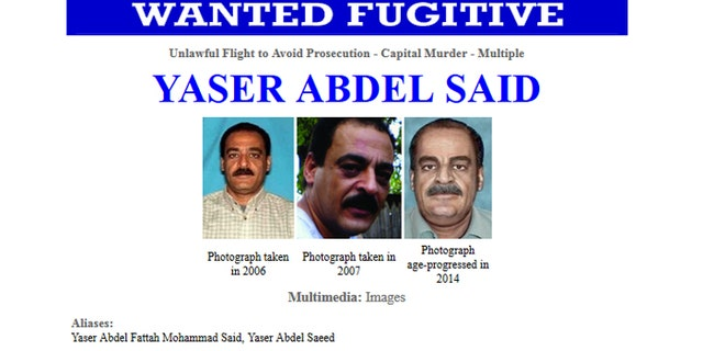 Yasser Said has been on the run since Jan. 1, 2008, when authorities say he killed his two daughters because they were becoming to westernized. (FBI)